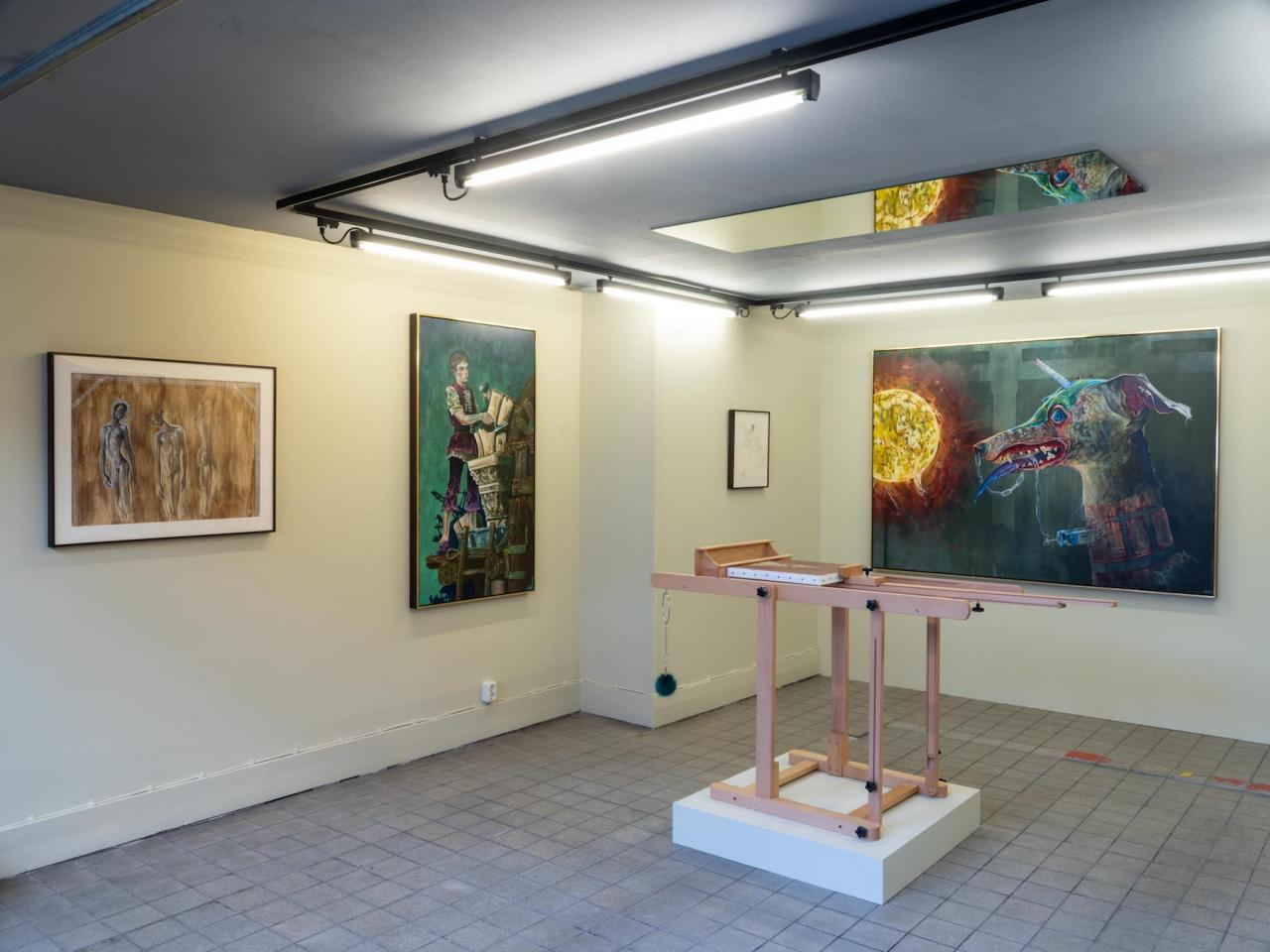 "Exhibition view of Kye Christensen-Knowles, ""Energumen"", at Rehnsgatan 3"