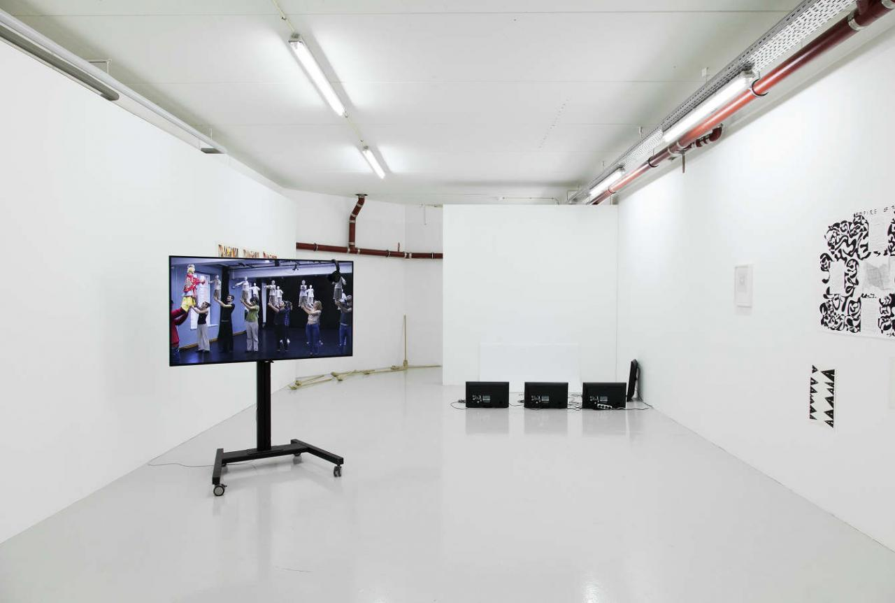 """""""The Antipodes of My Body"""" (2017-18), Exhibition view of a group show featuring Rob Churm, Nanna Lysholt Hansen"""