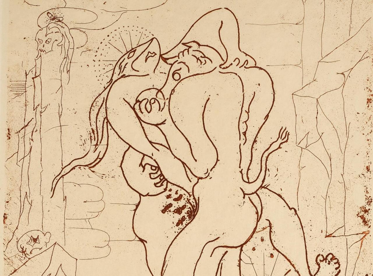 André Masson Sacrifices Minotaure (detail, 1936); illustration in Sacrifice; avec un texte de George Bataille (1936)