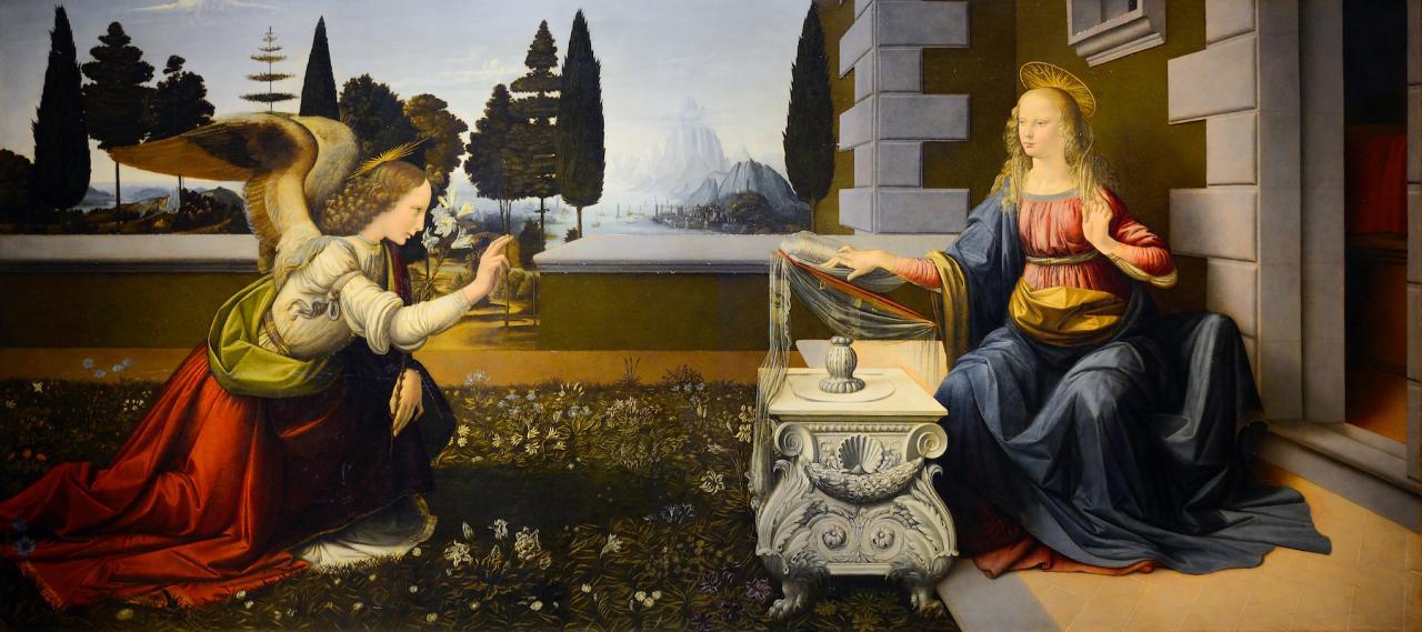 Leonardo da Vinci Annunciation (1472-1475)