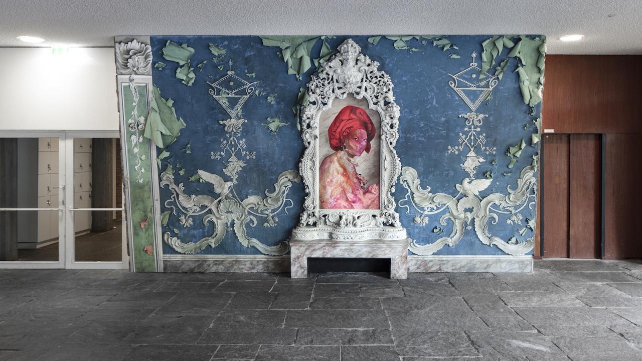 Firelei Báez for Marie-Louise Coidavid, exiled, keeper of order, Anacaona (2018) Courtesy Firelei Báez; Kavi Gupta Gallery, Chicago, Photo: Timo Ohler