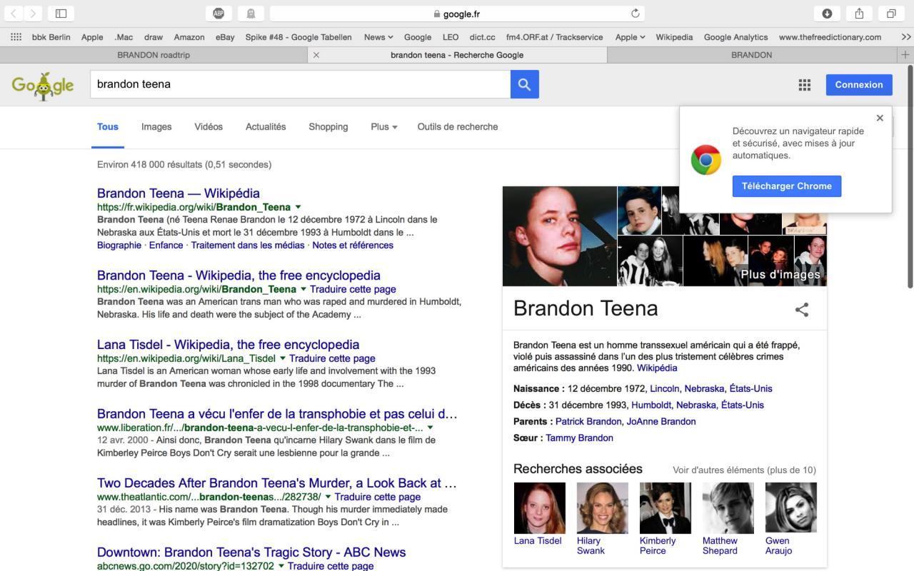 """Screenshot von """"Brandon"""", 1998"""