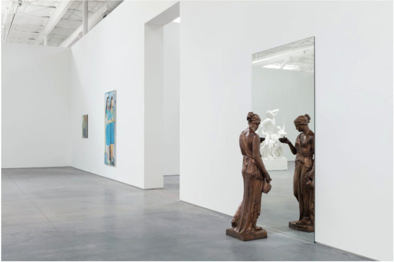 """ DOUBLES, DOBROS, PLIEGUES, PARES, TWINS, MITADES ""  (2017), installation view with works by Kai Althoff, Marlene Dumas, and Michelangelo Pistoletto"