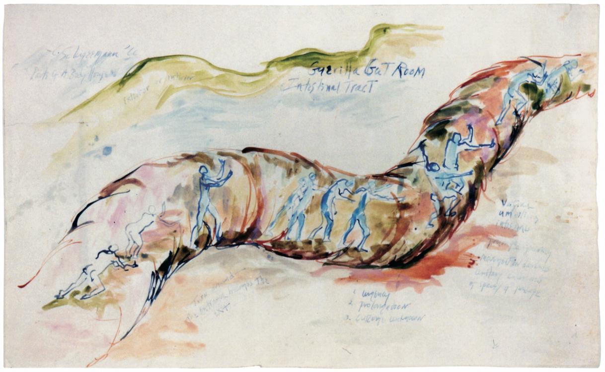 Carolee Schneemann Parts of a Body House – Guerilla Gut Room  (1966)