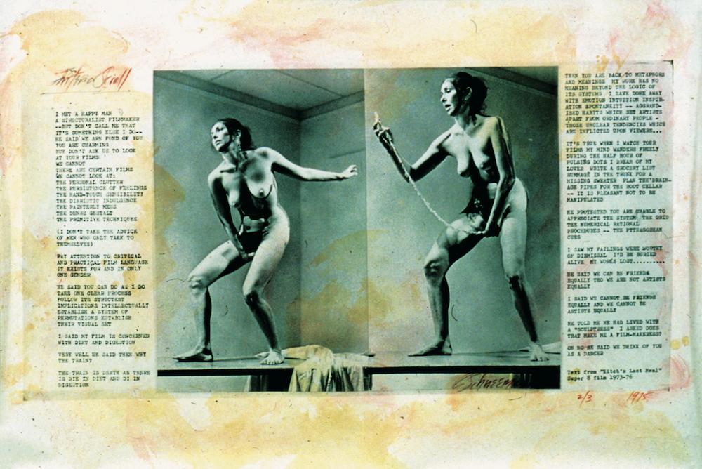 Carolee Schneemann Interior Scroll (1975)