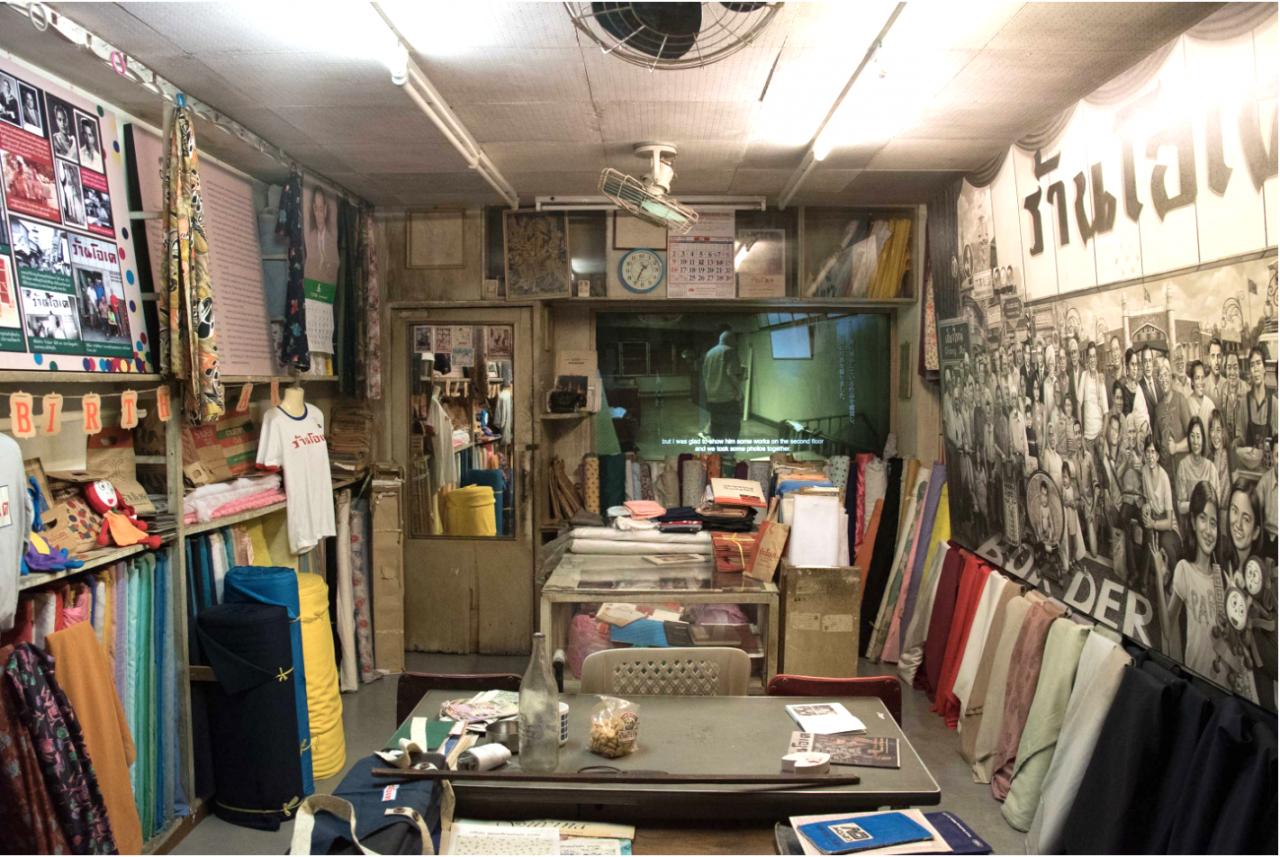 Navin Rawanchaikul Installation view of A Tales of Two Homes (O.K. Store) (2019) at Bangkok CityCity Gallery