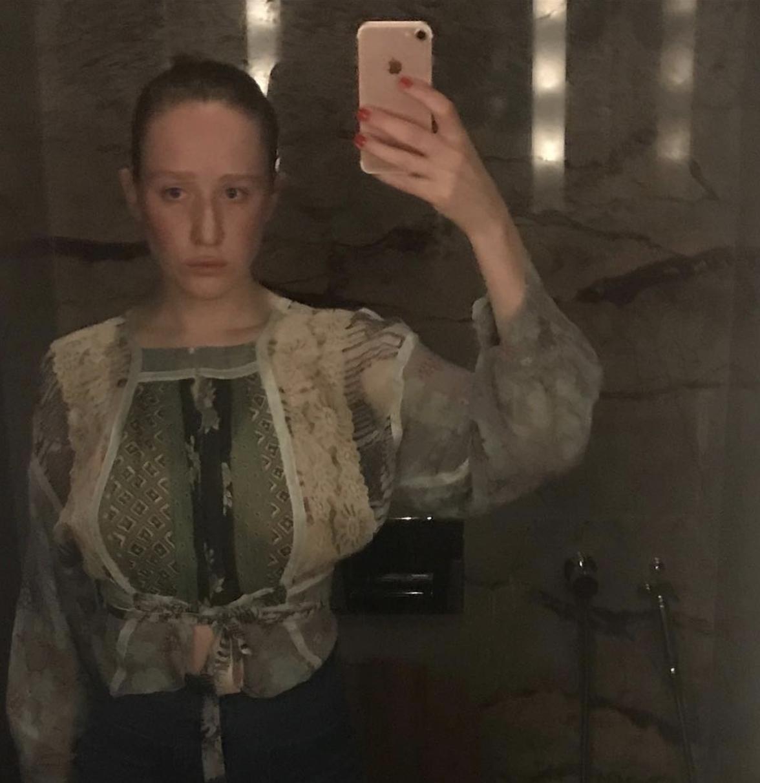 Katilin in Larry Gagosian's bathroom