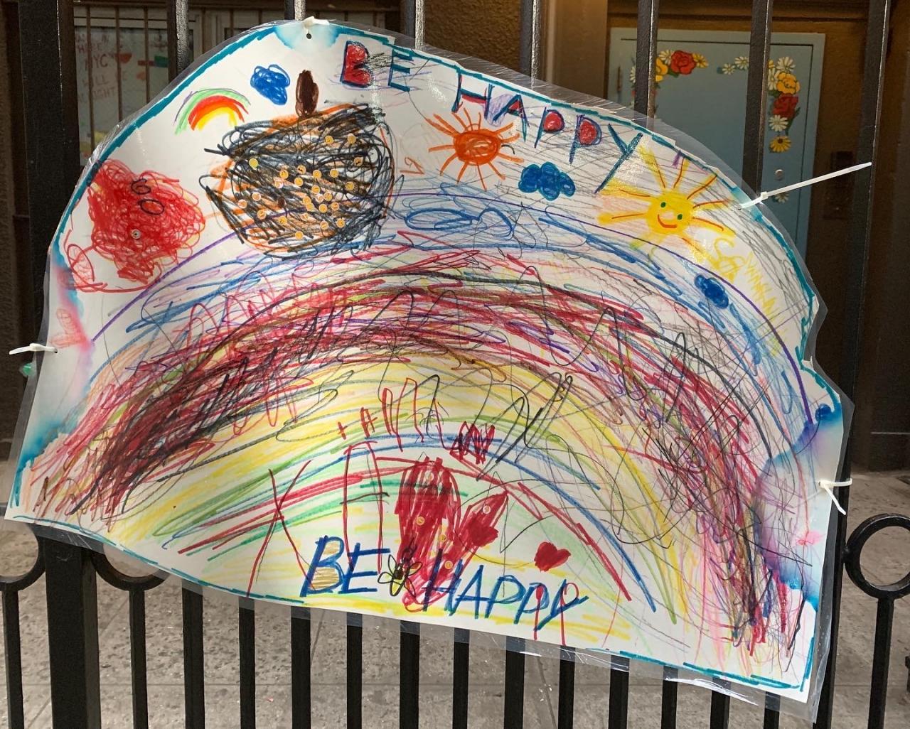 Drawingby children of the Beginnings Nursery School by Stuyvesant Square Park