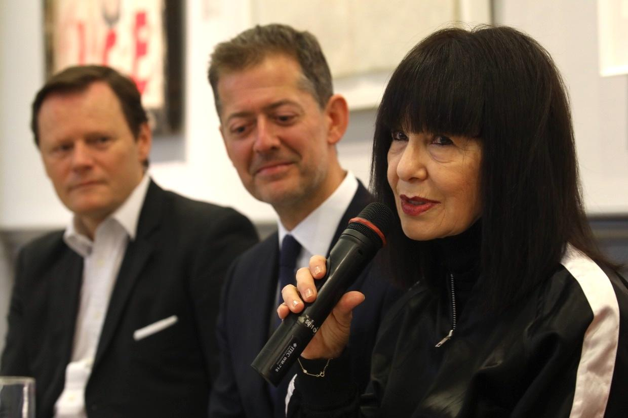 Roselee Goldberg speaking at Vienna Art Week 2018 Photo: eSeL