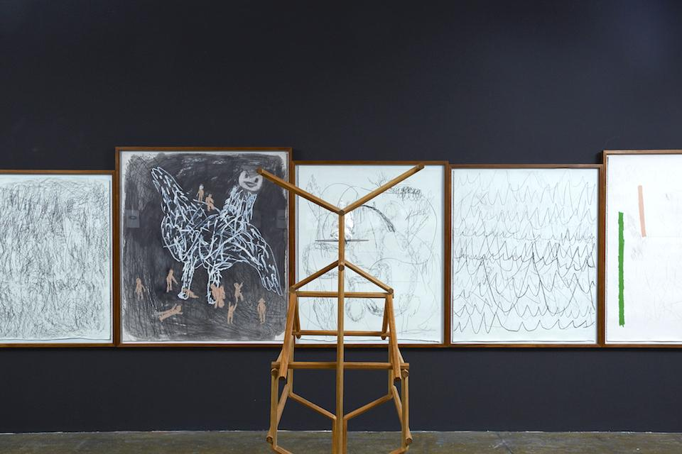 """Dusadee Huntrakul Installation view of """"There are More Monsoon Songs Elsewhere"""" at 100 Tonson, 2018"""