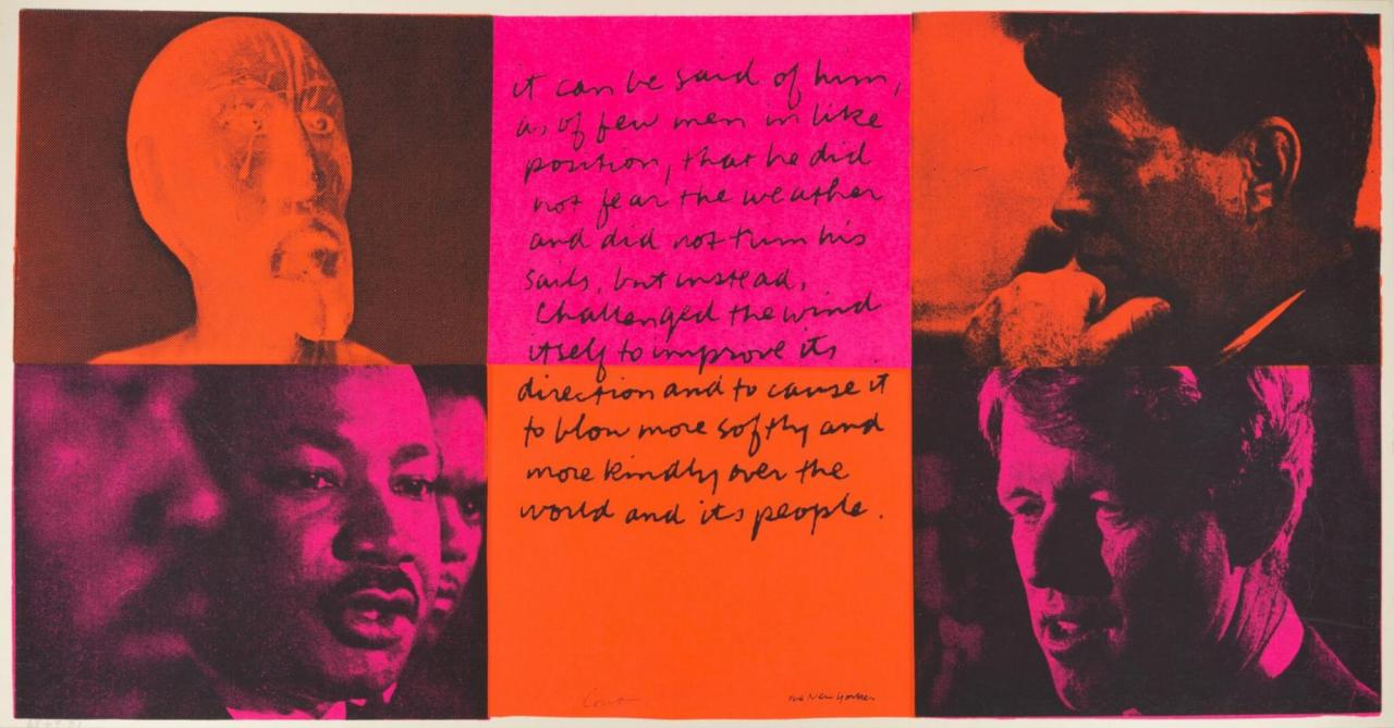 it can be said of them , 1969 Screenprint on paper, 305 x 584 mm
