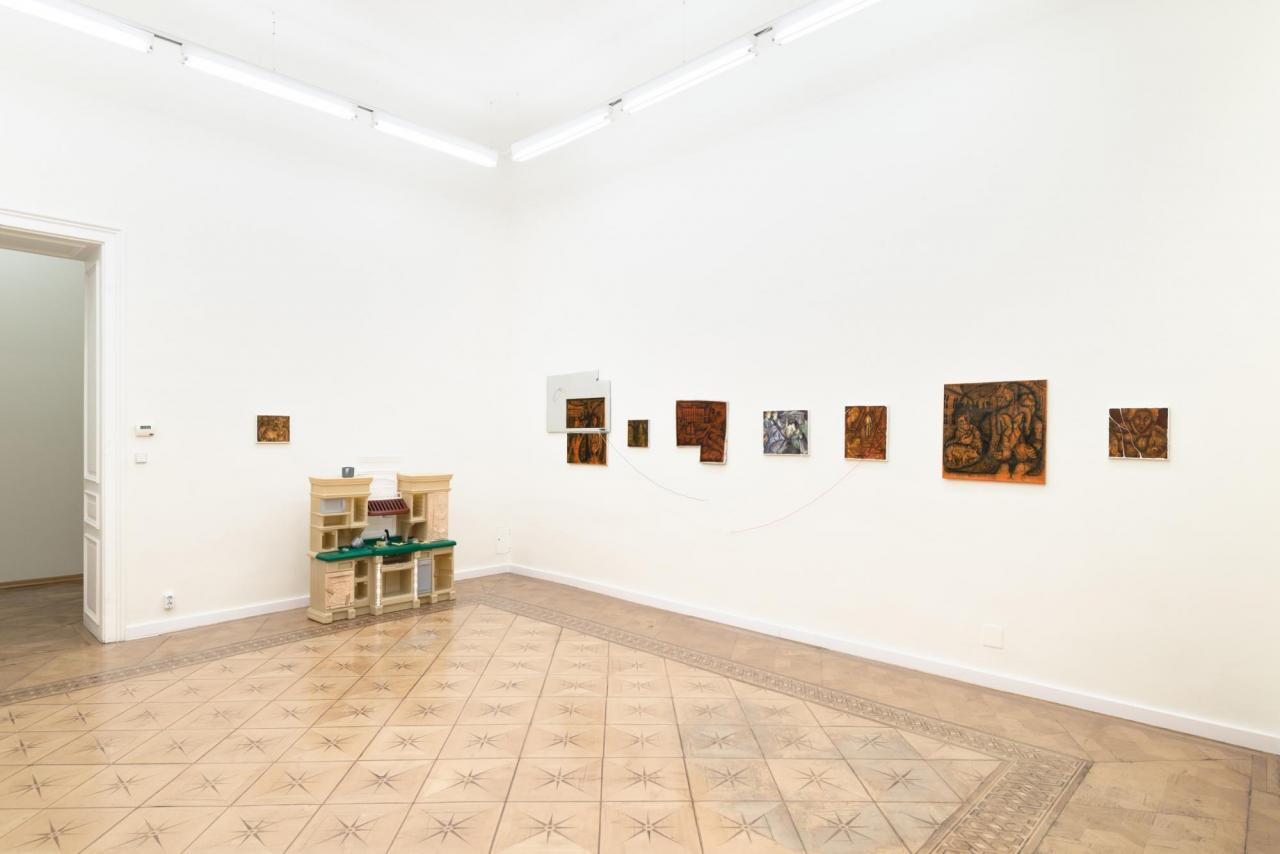 """Ben Schumacher """"The Testing Place"""" (2017); installation view at Croy Nielsen"""