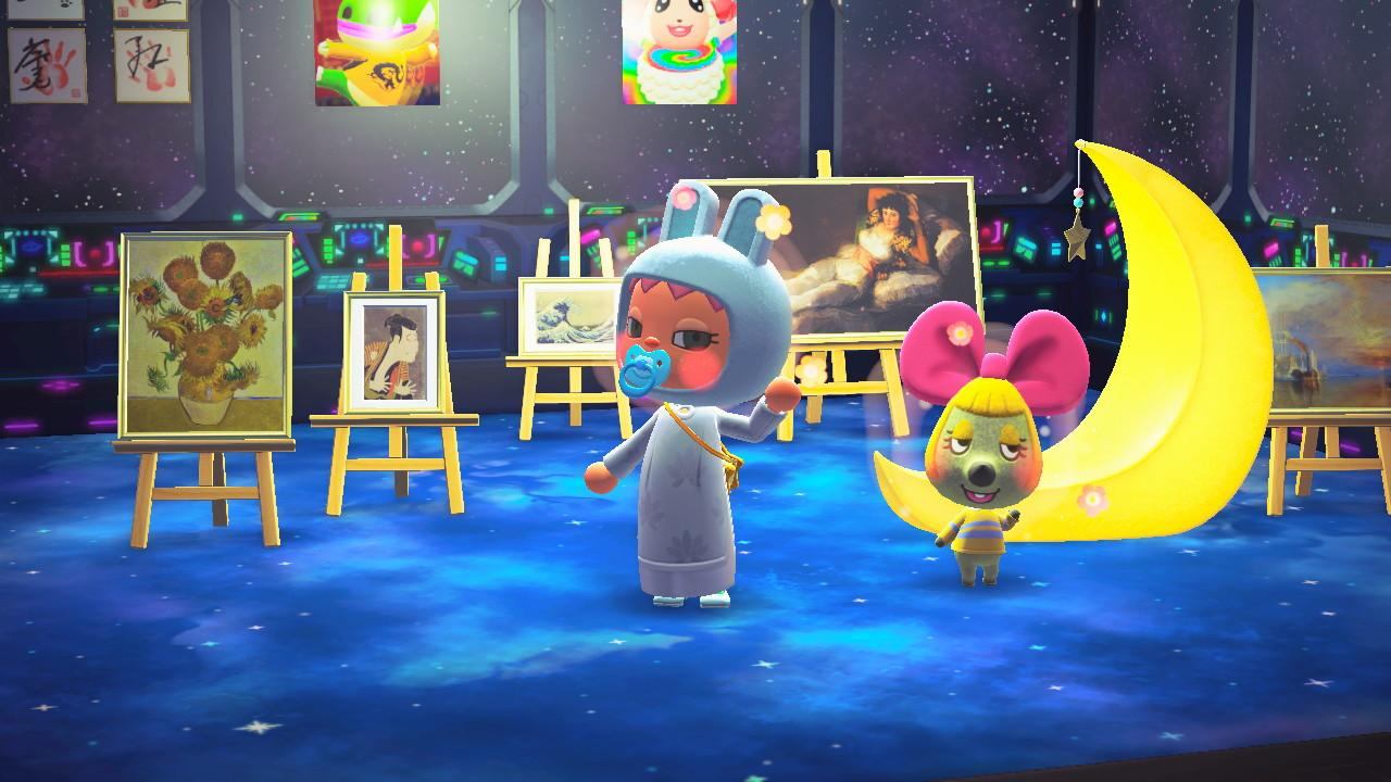Curated Space With Penelope ,   Screenshot from Animal Crossing; New Horizons