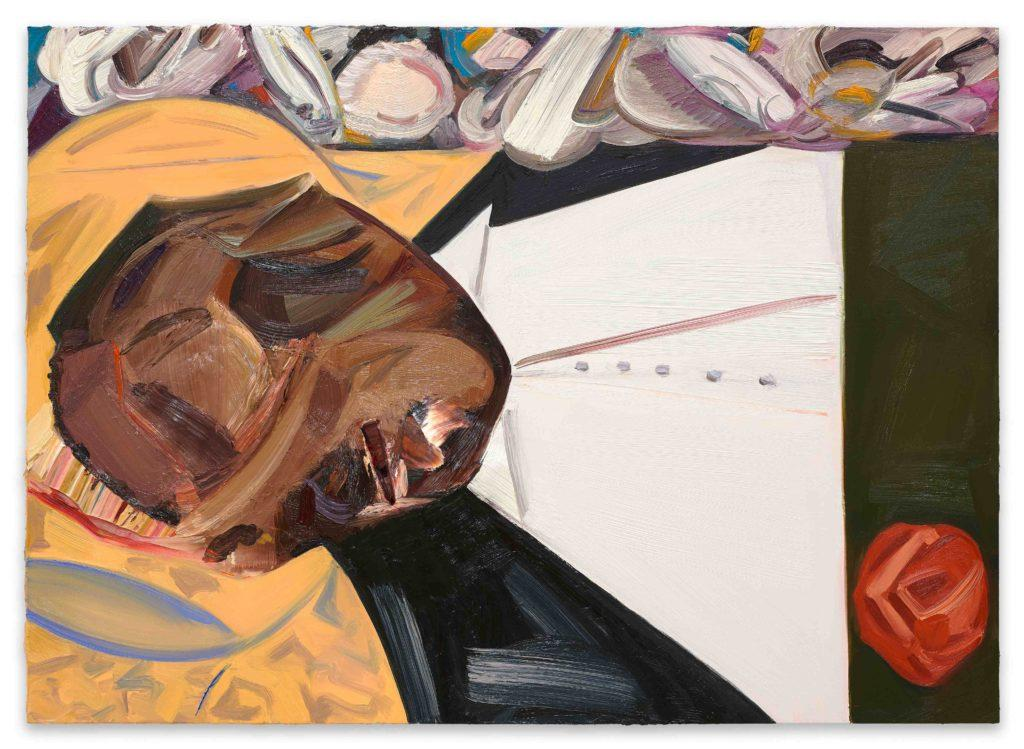 Dana Schutz Open Casket (2016) Oil on canvas,99 x 135 cm;Collection of the artist; Courtesy Petzel, New York