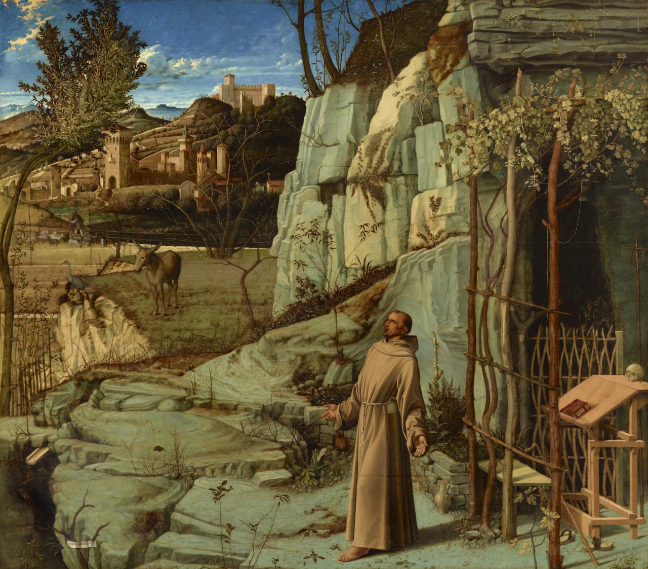 Giovanni Bellini, St. Francis in the Desert , 1476–78