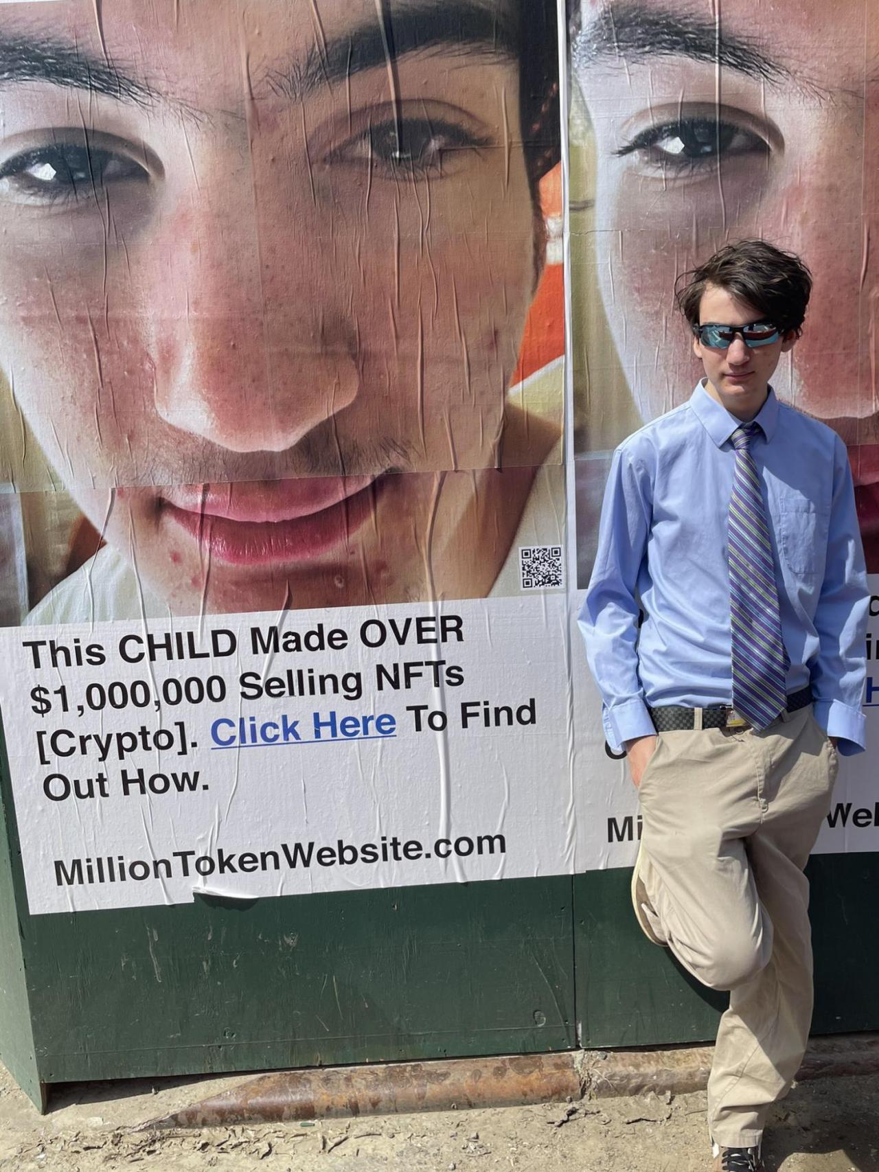 Street campaign for Million Token Website