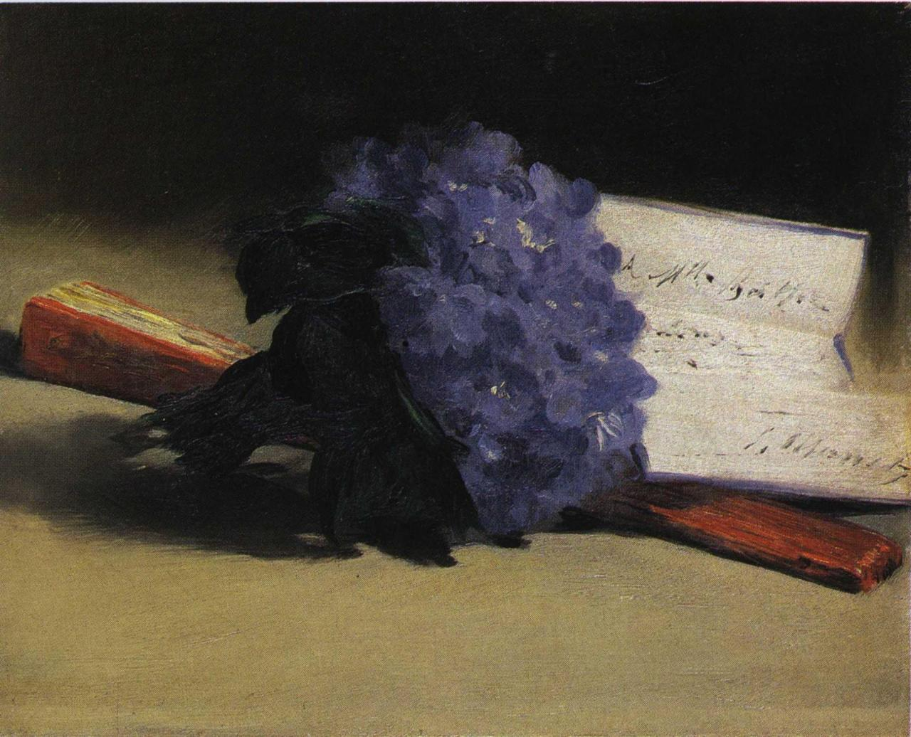 Edouard Manet, Bouquet de Violettes,  1872 as seen on the cover of Baudelaire's Les Fleurs du Mal