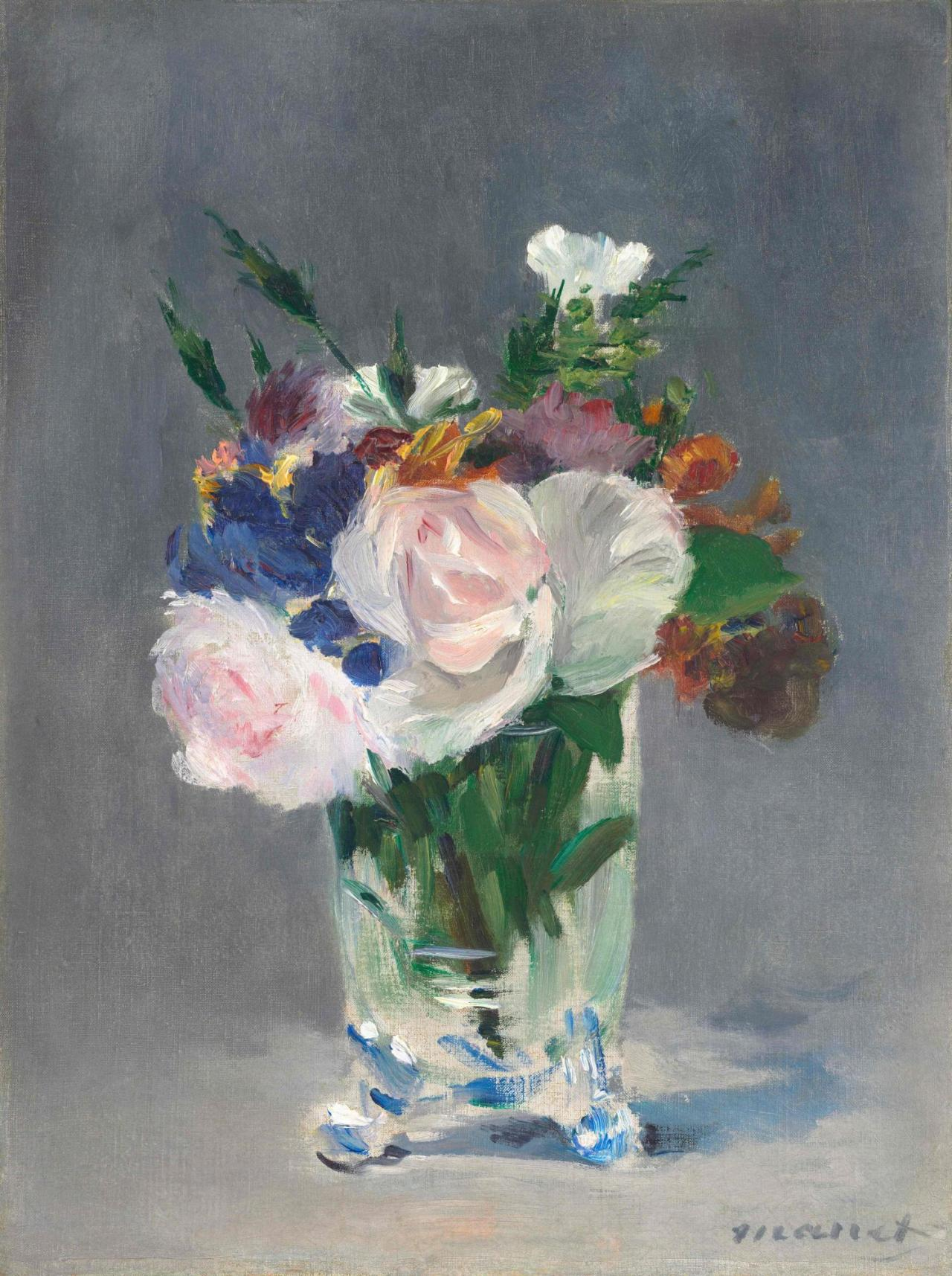 ÉdouardManet, Flowers in a Crystal Vase , ca. 1882