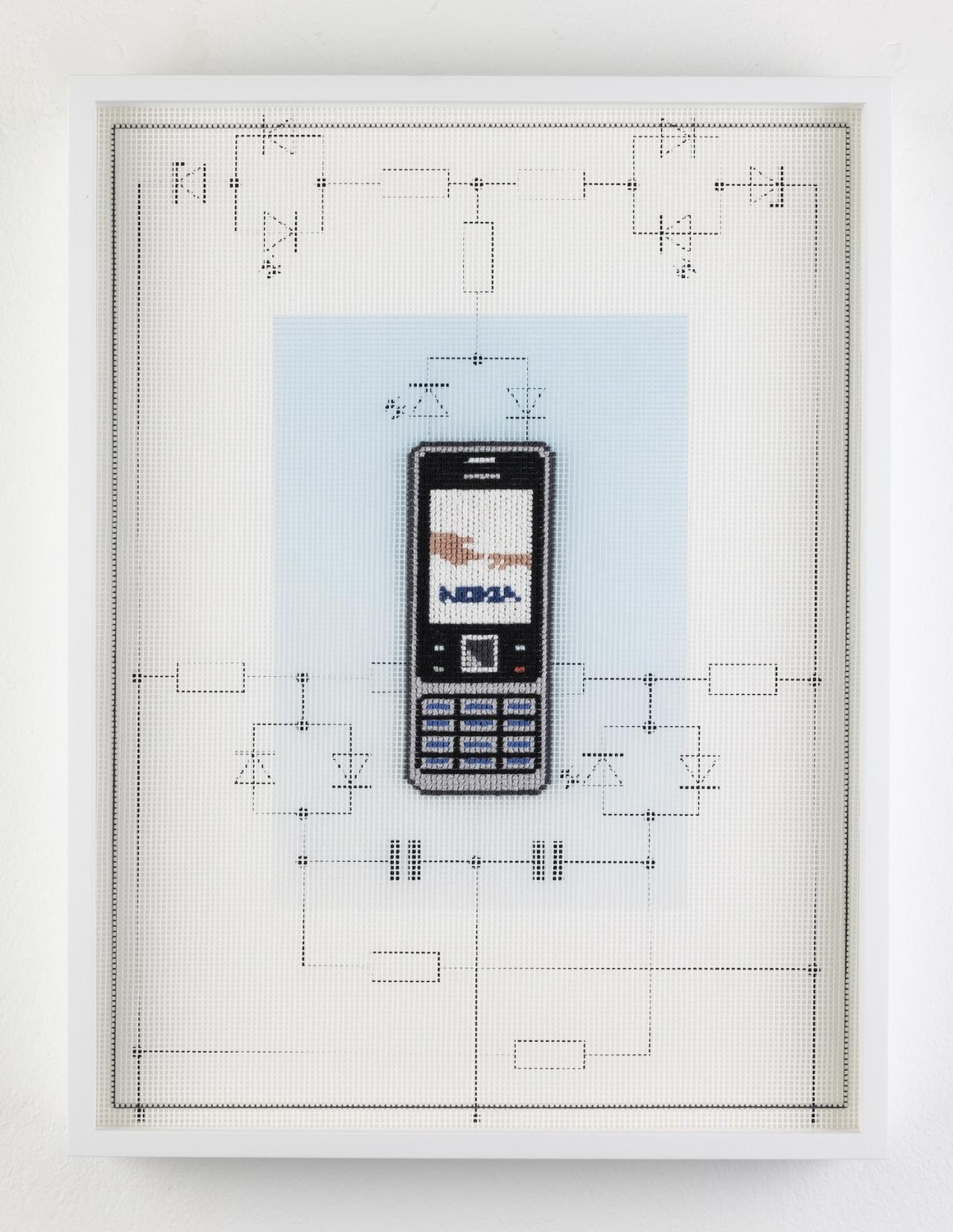 """Lilly Lulay, Nokia 6000 Cellphone (2007) (2020). From the series """"Early Digital Tech"""". Photo: Thomas Bruns. Courtesy of gallery Kuckei + Kuckei and Galerie Klüser, Munich"""