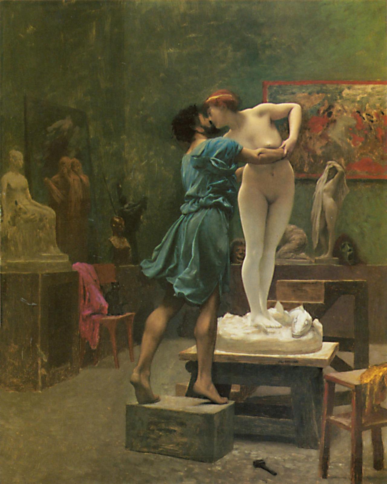 Jean-Léon Gérôme, Pygmalion and Galatea , ca. 1890