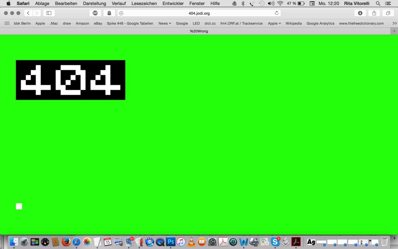 JODI 404.jodi.org, 1998
