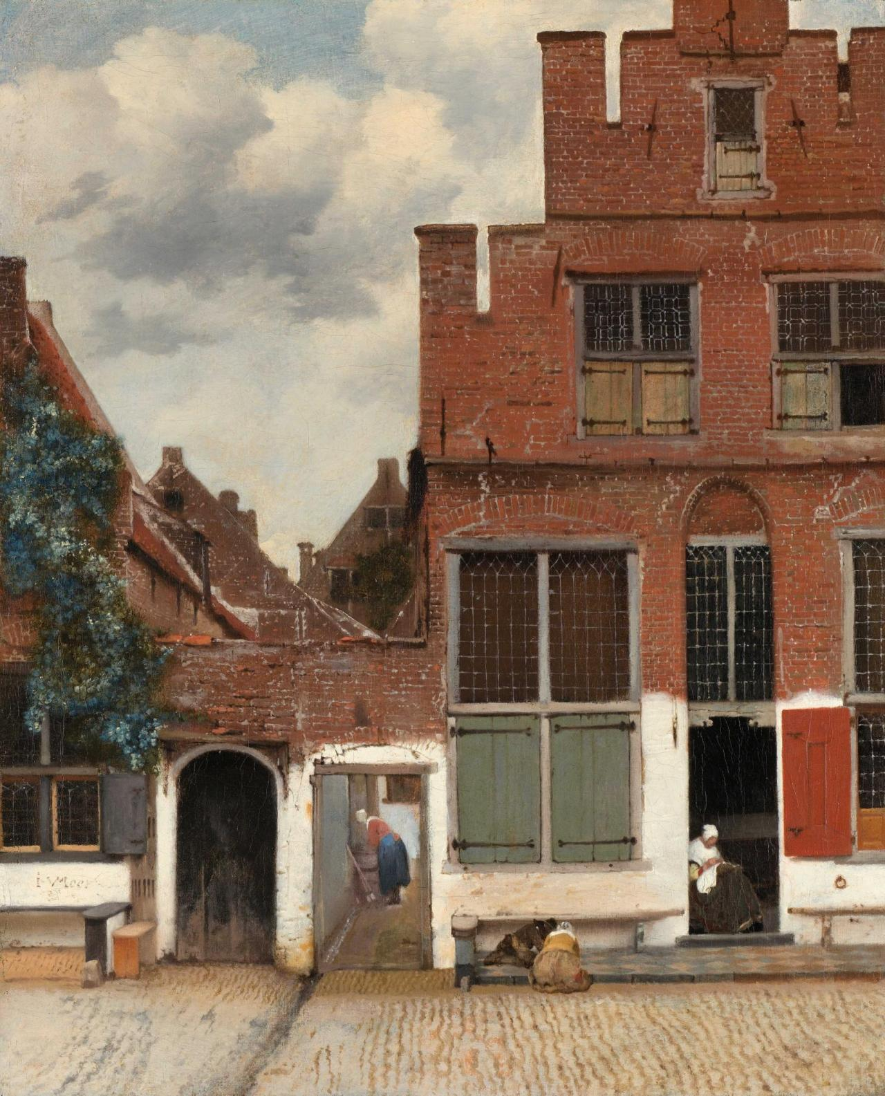 Johannes Vermeer, The Little Street , 1657-1658 Oil on Canvas.54.3cm ×44cm