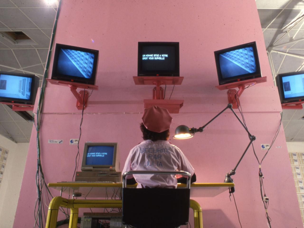 Julia Scher Security by Julia IX (SBJ IX) , 1991 Installation view Le Consortium, Dijon