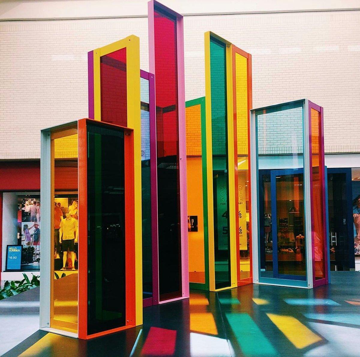 Liam Gillick Intermodal Elevation (2015) at NorthPark Center
