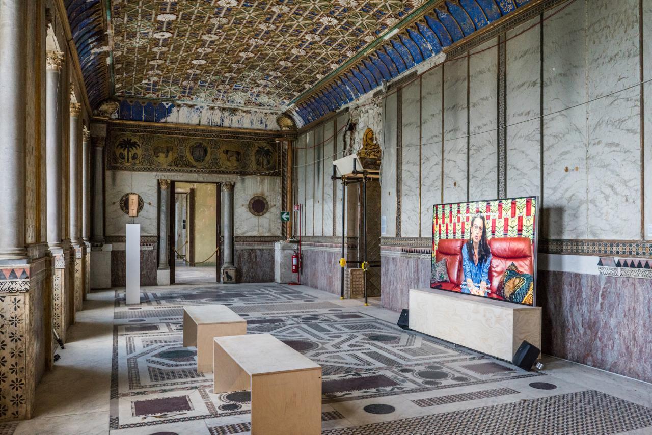 Kader Attia, The Body's Legacies. The Post-Colonial Body, 2018 Video, colour, sound, 48', installation view, Palazzo Forcella De Seta, Palermo