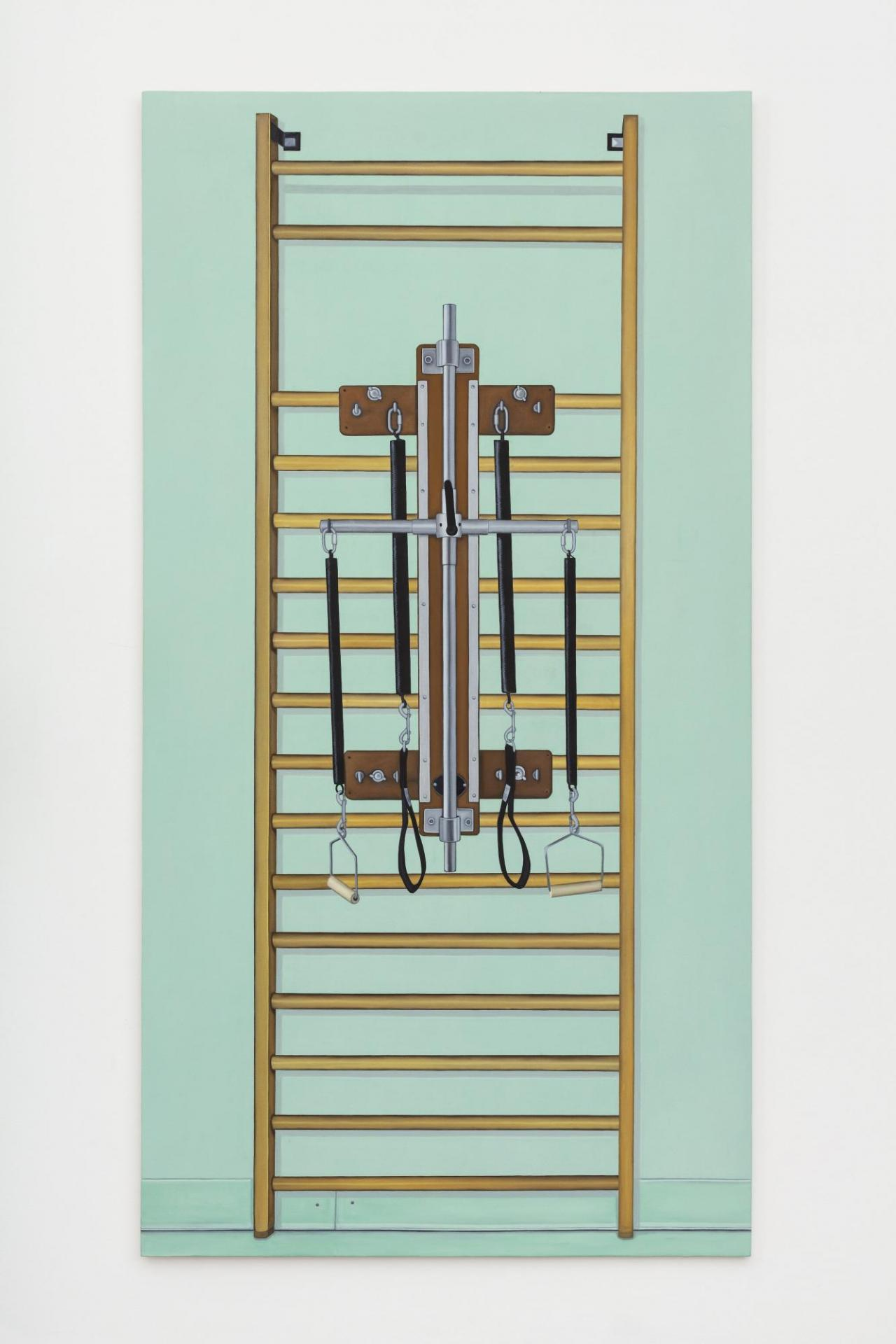 Megan Marrin, Swedish Bars with Register , 2021. Oil on canvas on styrofoam, 231 × 121 cm. Courtesy: the artist; Queer Thoughts, New York; Efremidis, Berlin