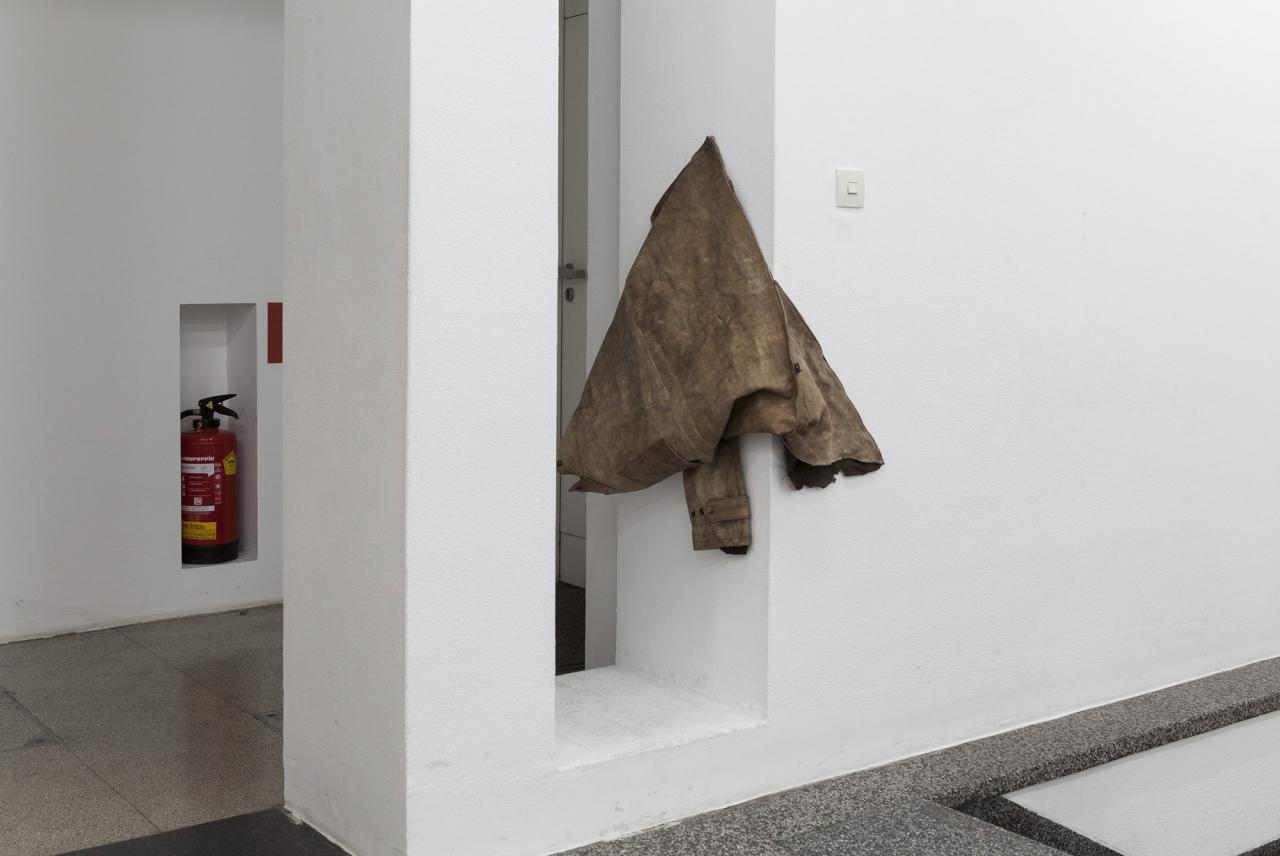 Untitled , Halved coat, 90 x 65 x 24 cm