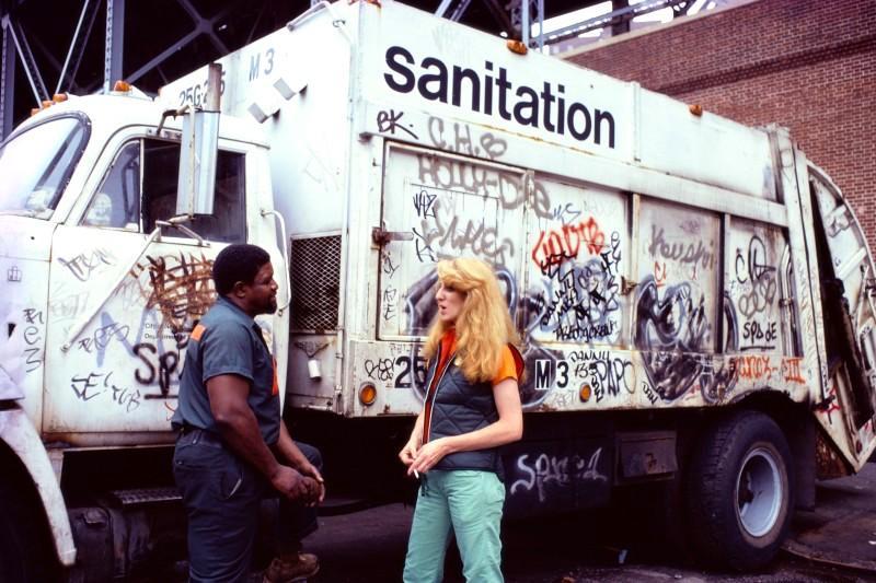Mierele Laderman Ukeles Touch Sanitation Performance (1979-1980) Courtesy Ronald Feldman Fine Arts