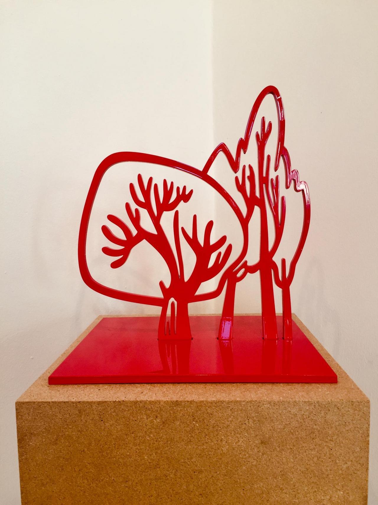 Morrison Copse, 2019, Steel, lacquered, 40 x 35,5 x 30 cm, Copyright Galerie Sabine Knust