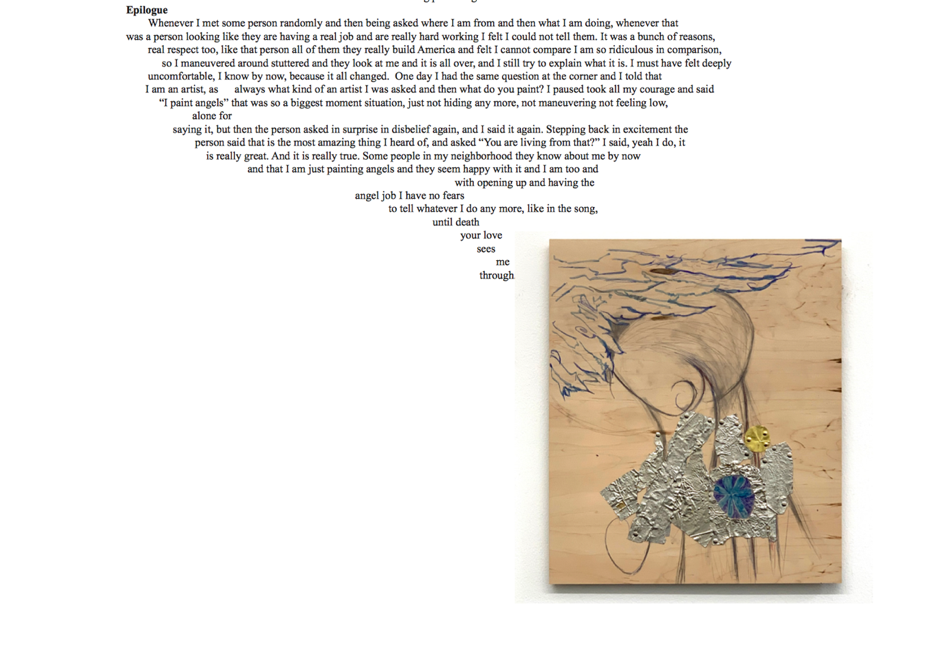 """Screen grab from online version of text accompanying """"Josef Strau: How to be an Angel Painter"""" at Francesca Pia, Zurich"""