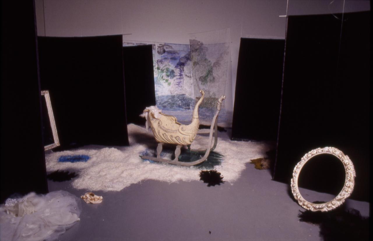 Karen Kilimnik, Swan Lake, 1992 Installation viewDeichtorhallen, Hamburg 1993 Photo: Wolfgang Neeb