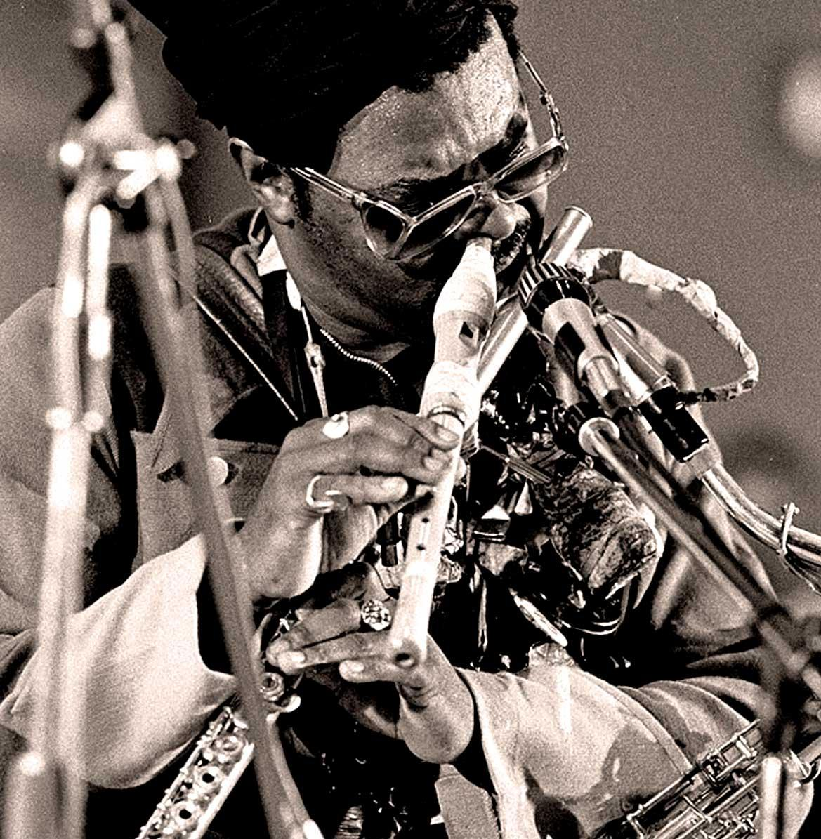 Rahsaan Roland Kirk playing in Prague, 1967
