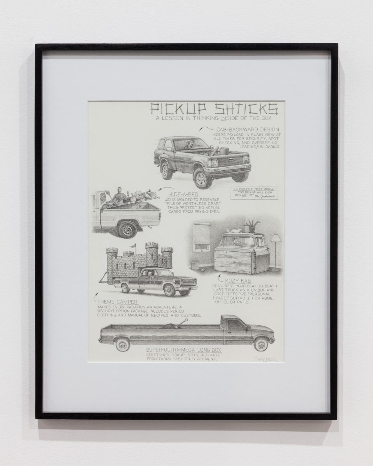 Pickup Shticks , n.d. Pencil on paper, 28 x 43 cm