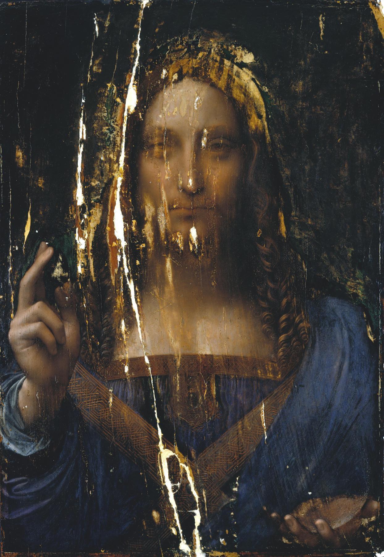 Leonardo da Vinci Salvator Mundi (ca. 1500) after cleaning