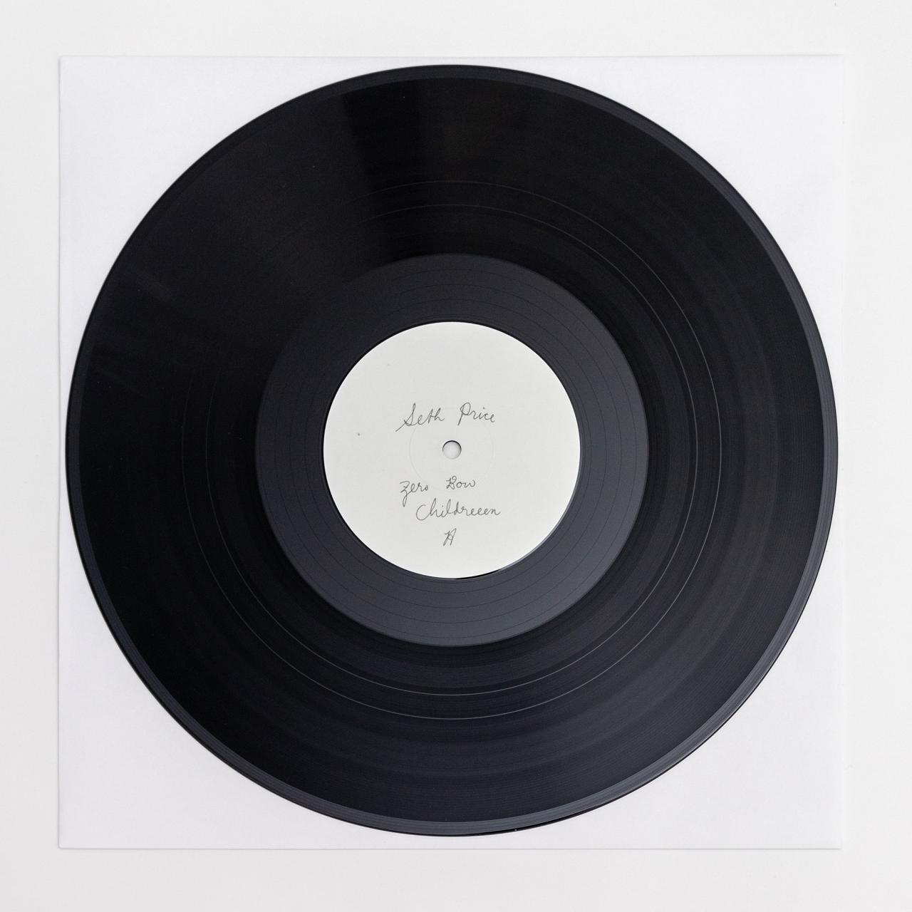 """Seth Price,""""Zero Bow Childreeen"""" LP."""