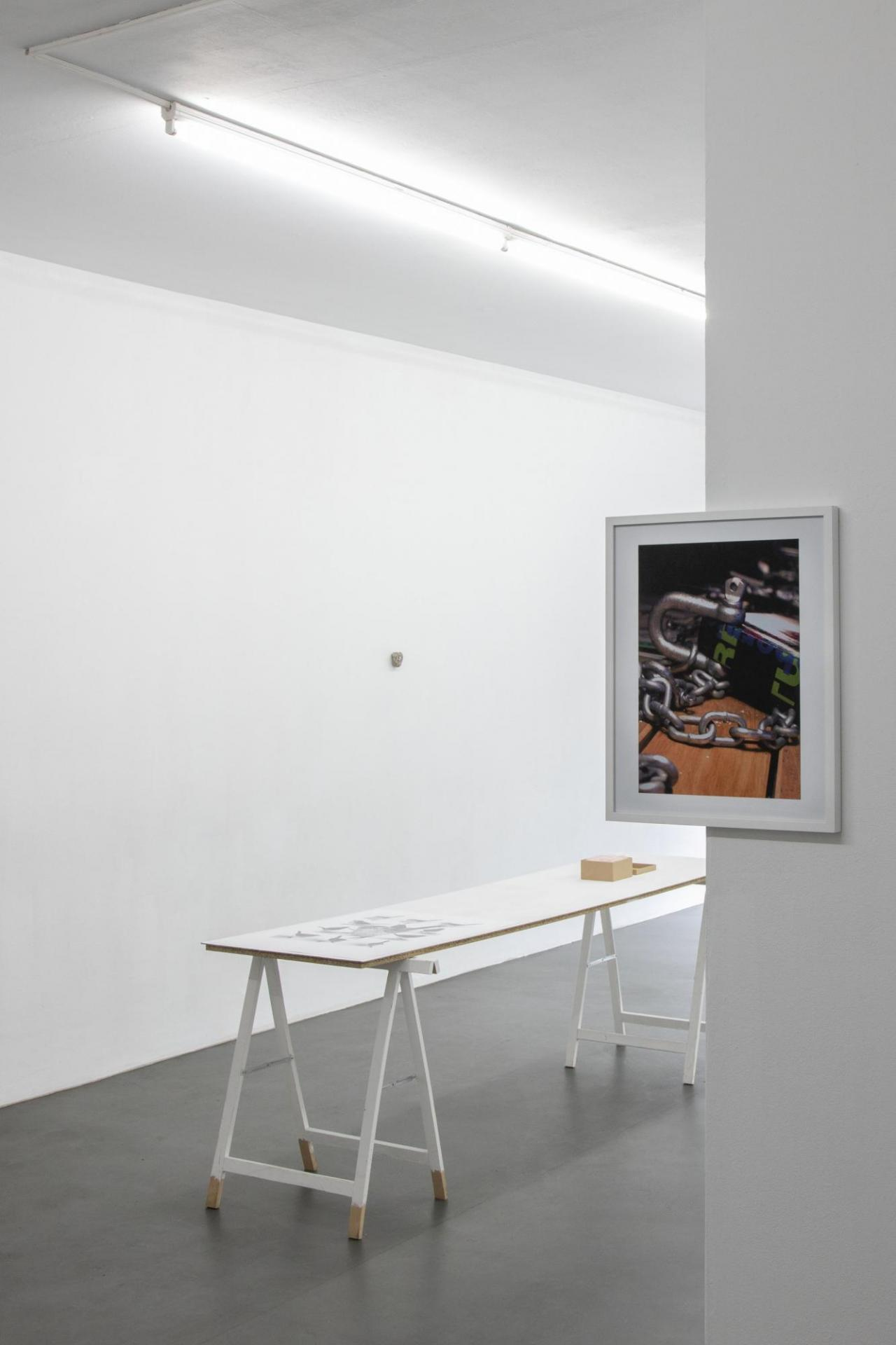 Heimo Zobernig Infolounge, Biennale of Sydney 2004 [detail] , 2018 C-print