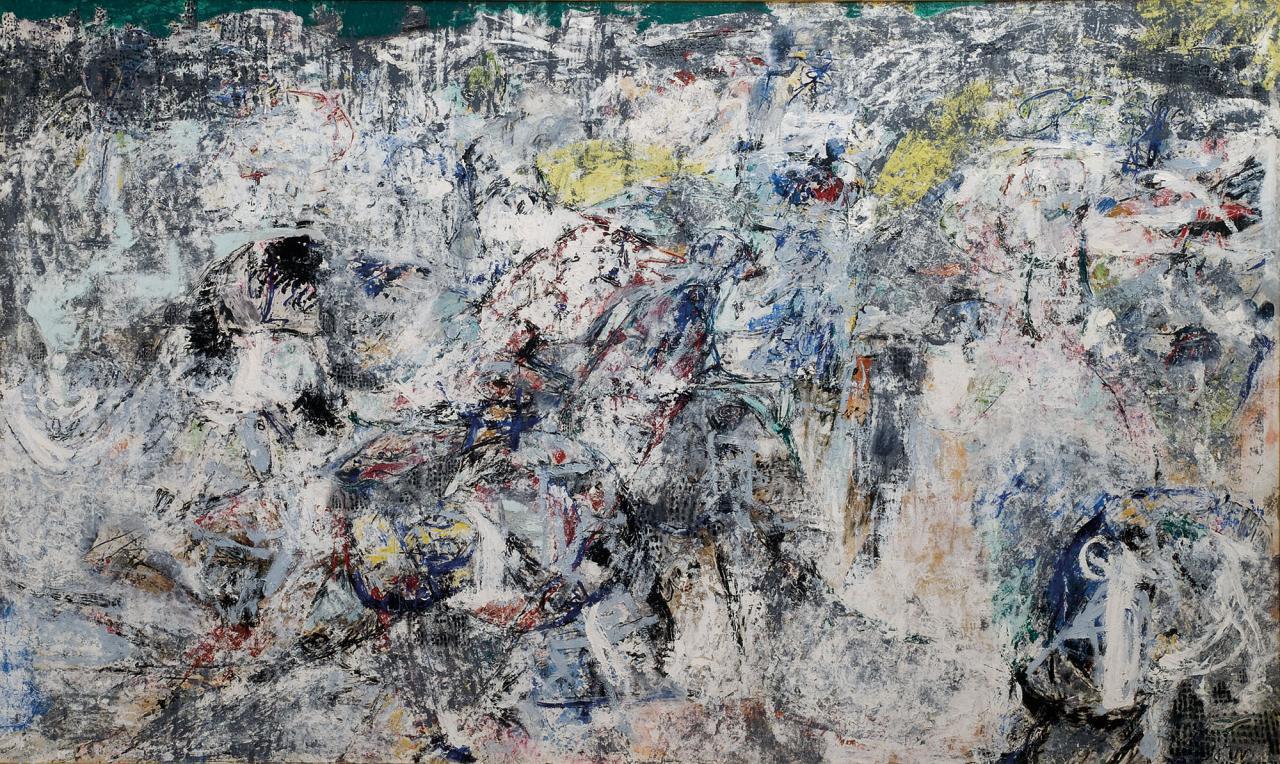 Asger Jorn Stalingrad, No Man's Land, or the Mad Laughter of Courage, 1957–1960, 1967, 1972 Oil on canvas 296 x 492 cm © Donation Jorn, Silkeborg / Bildrecht, Vienna2016. Photo: Lars Bay