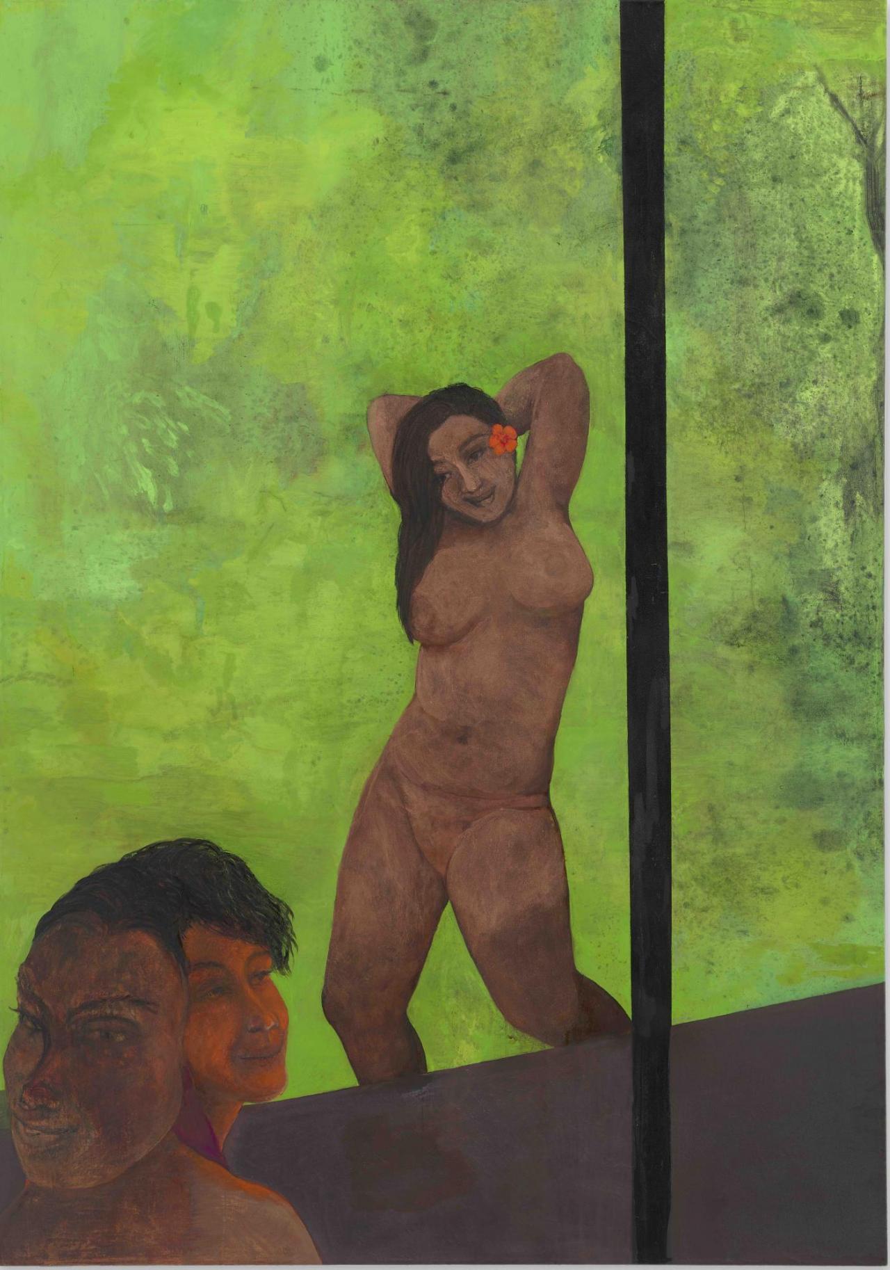 Stanislava Kovalcikova, Weight of Light , 2020, Oil and ink on canvas, 175 x 120 cm