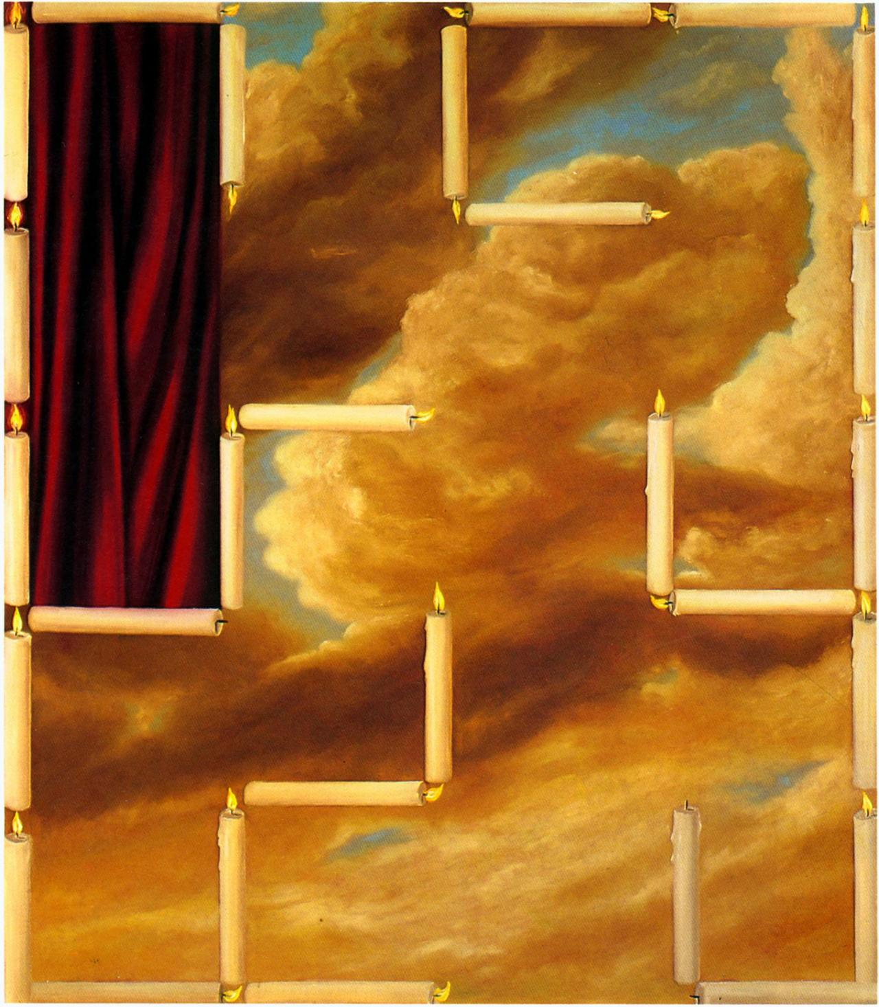 A Simple Maze, 1988, Oil on canvas, 213 x 183 cm
