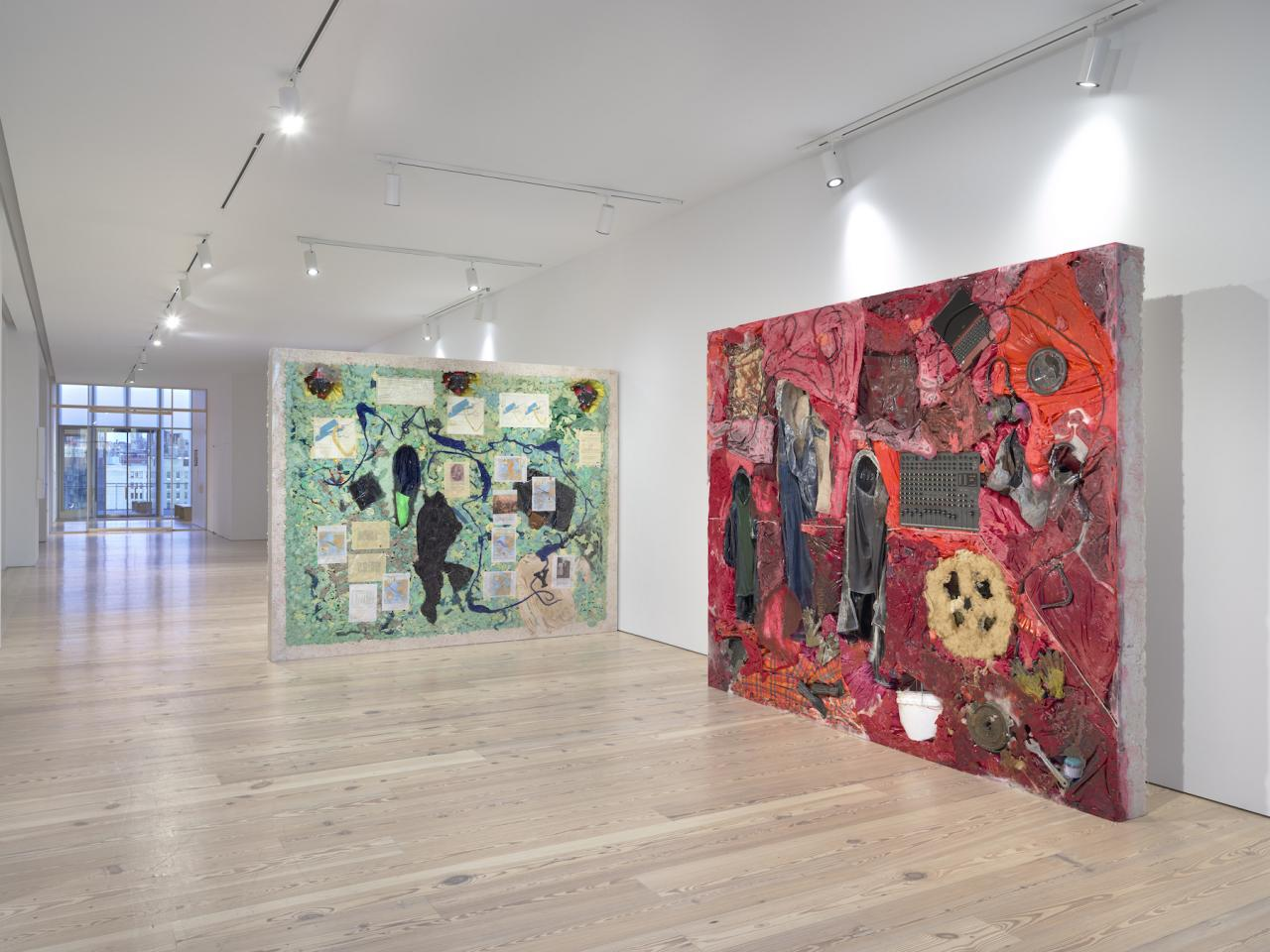 Installation view of  Kevin Beasley: A View of a Landscape  at the Whitney From left to right:  Campus , 2018;  The Acquisition , 2018; Photo: Ron Amstutz