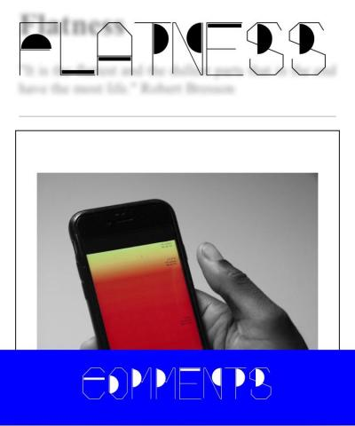 Flatness , Mobile screengrab showing image by Nikhil Vettukattil