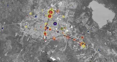 The Ayotzinapa Case: A Cartography of Violence Commissioned by and undertaken in collaboration with the Equipo Argentino de Antropologia Forenseand Centro de Derechos Humanos Miguel Agustín Pro Juárez for the families of the 43 disappeared,the wounded and killed students, in the town of Iguala, Guerrero