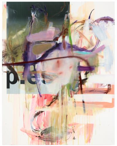 """Untitled"", 2012; Öl, Papier auf Leinwand, 230x 180cm"