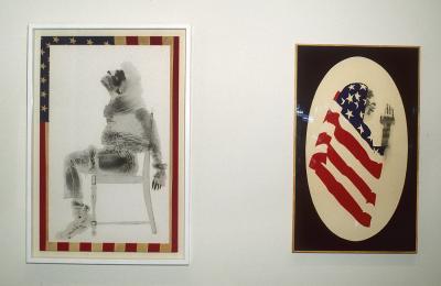 David Hammons, Injustice Case, 1970; Pray for America, 1974