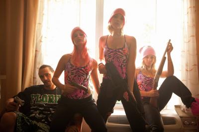 Alien (James Franco), Cotty (Rachel Korine), Brit (Ashley Benson) & Candy (Vanessa Hudgens) Alle Abbildungen: © 2013 Wild Bunch Germany