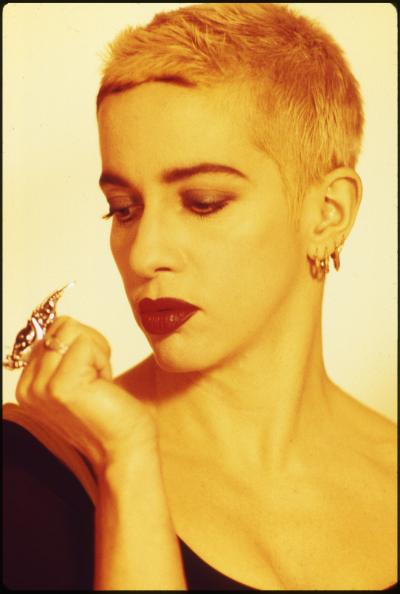 Kathy Acker at 26th Studio, New York 1990